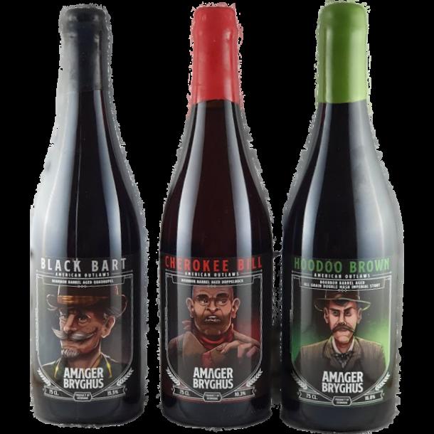 Alle 3 Barrel Aged; American Outlaws, Amager Bryghus