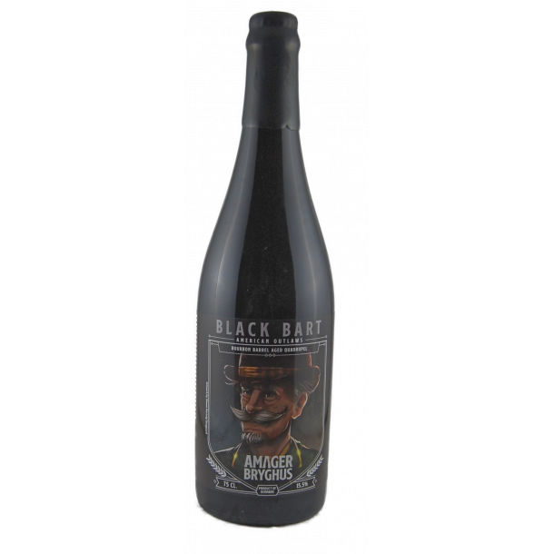 Black Bart, Bourbon Fadlagret Quadrupel, 15,5%, 75cl, flaske, Amager Bryghus, Danmark